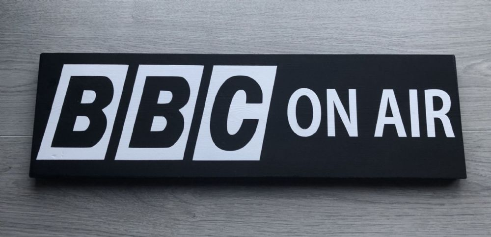 BBC ON AIR Vintage Old Style bbc signs Handmade Wood Sign Memorabilia Studio